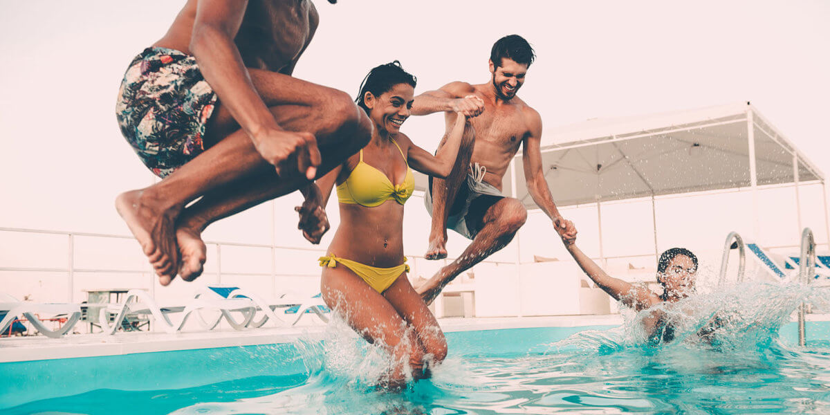 Make your swimming pool area party ready